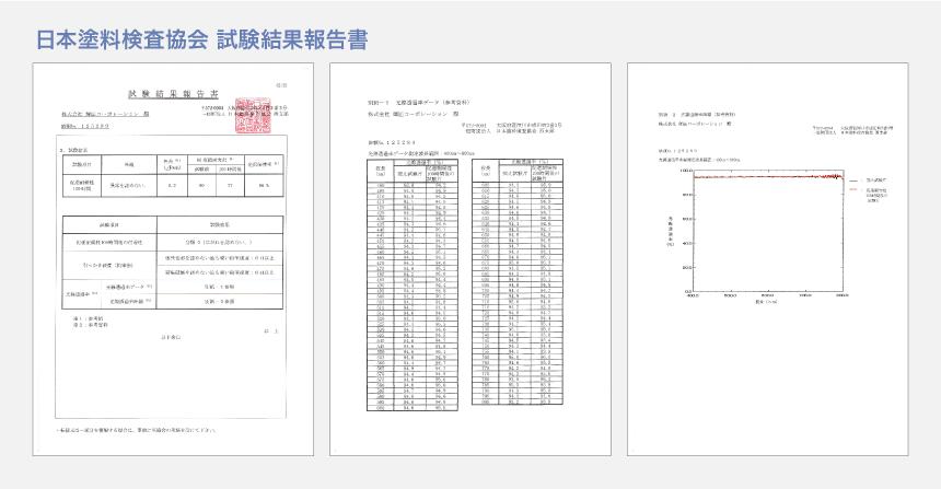 日本塗料検査協会 試験結果報告